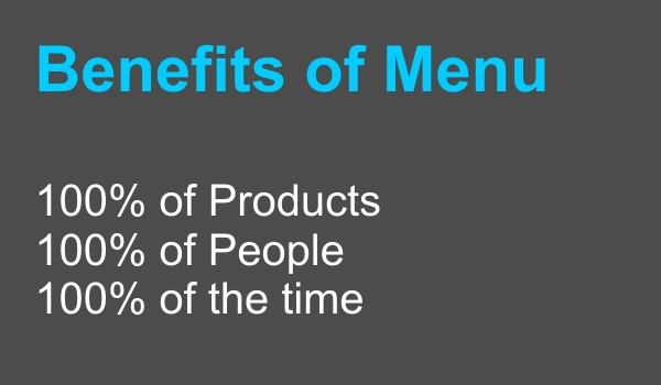Benefits of Menu